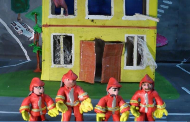 Пожарник из пластилина своими руками поэтапно фото 52
