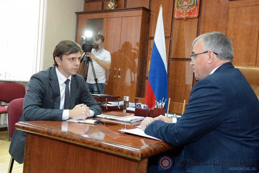 Андрей Клычков предложил Николаю Злобину должность первого заместителя председателя руководства Орловской области
