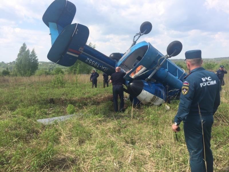 ВОрловской области строго приземлился вертолет: имеется пострадавший